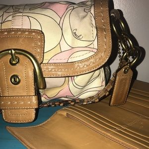 Signature Coach Purse and matching Wallet